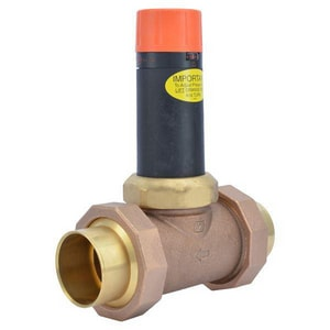 Cash Acme EB-25 2 in. 300 psi Bronze and Stainless Steel Union Sweat Pressure Reducing Valve C239700045