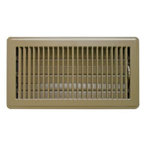 Accord Ventilation Products 14 x 6 in. Floor Register in Brown Steel A1010614BR