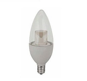 TCP 4W B11 Dimmable LED Light Bulb with Candelabra Base TLDCT4W27K6