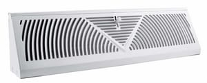 Accord Ventilation Products 24 x 4 in. Baseboard Register in White Steel A15024WH