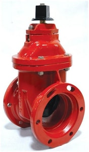 M&H Valve Style 4067 10 in. Mechanical Joint Ductile Iron Open Left Resilient Wedge Gate Valve M40670110LAOL