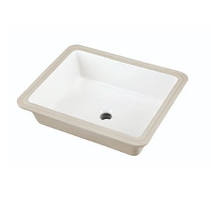 Gerber Plumbing Wicker Park™ Undermount Bathroom Sink in White G12791