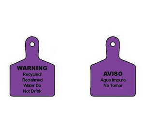 T. Christy Enterprises 4 in. Double Sided Valve Tag in Purple CIDMAXP2RC006