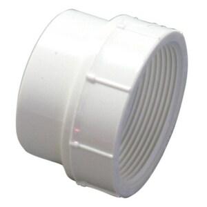 Contech Construction A2000 6 in. Spigot Straight PVC Cap A2000SCAPU
