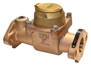 Zenner Model ZTMB 2 in. Flanged 400 gpm Bronze Cold Water, Turbine Meter with VL-9 Encoded Remote Totalizer - US Gallons ZZTMB02USEBV9M at Pollardwater