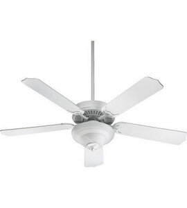 Quorum International Tribeca II 52 in. 64W 5-Blade Ceiling Fan with CFL Light in White Q775252506