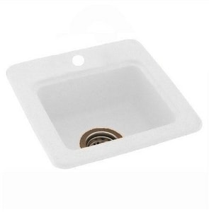 Swan Corporation Square Bar Sink in White SBS1515WH