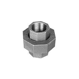 1/2 in. 150# Ground Joint Galvanized Malleable Iron Union WG150UD