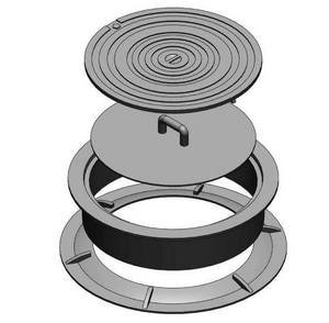 D & L Foundry Supply 24 in. 2-Hole Ring and Cover DL232003