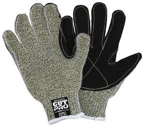 MCR Safety Memphis Hero™ XL Size Kevlar, Stainless Steel, Synthetic and Plastic Gloves in Green and Black M93861XL