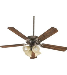 Quorum International Capri V 52 in. 68W 5-Blade Ceiling Fan with Incandescent Light in Mystic Silver Q775208358