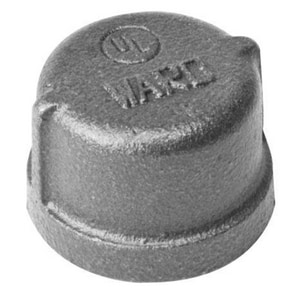 1-1/2 in. Threaded 150# Black Malleable Iron Cap WBCAPJ