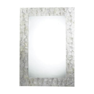 ELK Lighting Tolka Quay 22 x 34 in. Glass, Polyurethane and Shell Framed Rectangular Mirror in Mother Of Pearl EHDM1987