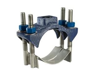 JCM Industries 4 x 1 in. CC Ductile Iron Double Strap Saddle J4020545XCC