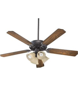 Quorum International Capri V 52 in. 64W 5-Blade Ceiling Fan with CFL Light in Toasted Sienna Q775208344