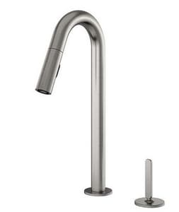 Julien Apex 2-Hole Pull-Out Kitchen Faucet with Single Lever Handle in Brushed Nickel J306215