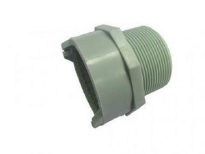 Enfield 1-1/2 in. Male Straight Schedule 40 Polypropylene Enfusion Adapter EL14