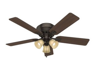 Hunter Fan Company Reinert 60W 5-Blade Ceiling Fan with 52 in. Blade Span and 3-Light in Premier Bronze HUN53012
