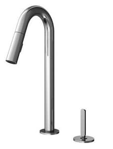 Julien Apex 2-Hole Pull-Out Kitchen Faucet with Single Lever Handle in Polished Chrome J306205