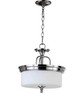 Quorum International Rockwood 3-Light Medium Pendant in Satin Nickel Q28901465