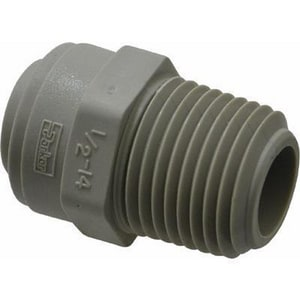 Parker Hannifin 1/2 in. OD Tube x MNPT Straight Acetal Adapter in Grey PA8MC8MG
