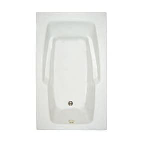 Mansfield Plumbing Products Pro-Fit® 59-3/4 x 35-3/4 in. Whirlpool Drop-In Bathtub with Left Drain in White M6518WH