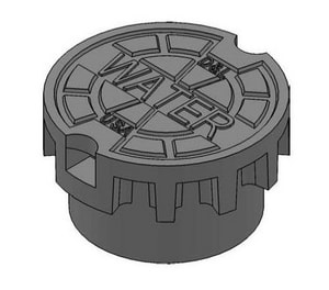 D & L Foundry Supply 52 in. Cast Iron Base Cover Valve Box with Fire Lid DM804423