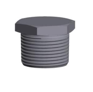 4 in. Threaded 3000 - 6000# Straight Galvanized Forged Steel HEX Plug GFSTHPP