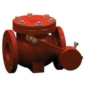 United Water Products 8 in. Epoxy Coated Cast Iron Flanged Check Valve U7700F180LW