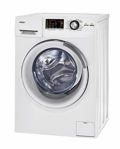 Haier America Trading 2 cf Front Load Washer and Dryer Combo in White HHLC1700AXW