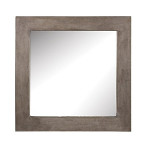 ELK Lighting Cubo 26 x 26 in. Framed Square Mirror in Concrete EH157001