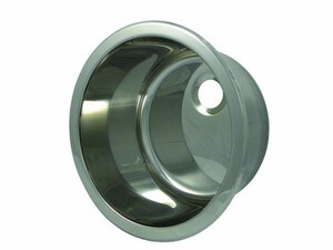 Opella No-Hole 1-Bowl Undermount Bar Sink in Polished Stainless Steel O14127045
