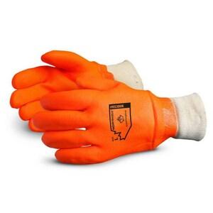 Superior Glove Works North Sea™ L Size Premium Quality Winter PVC Gloves in Orange SNS300K