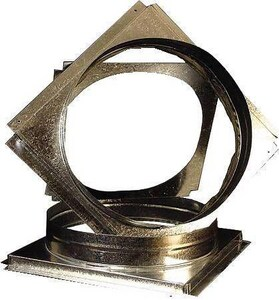 McDaniel Metals 18 in. Square to Round Adapter MSQRPCH102103