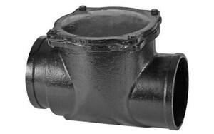 Jumbo Mfg. 4 in. Cast Iron No Hub Backwater Valve J2604