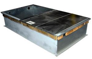 McDaniel Metals 46-1/4 x 14 in. Curb Box Galvanized Steel 18 ga MD14CRBPGCHMA