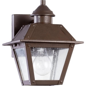 Quorum International Emile 10 in. 1-Light Outdoor Wall Lantern in Oiled Bronze Q702486
