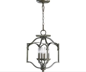 Quorum International Atwood 4-Light Candelabra Base Pendant in Oiled Bronze Q6796486
