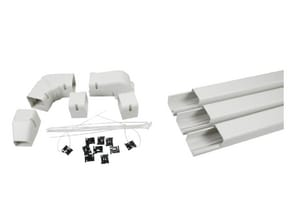 Little Giant Pump Speediduct™ 4 in. Line Set Duct Starter Kit in Ivory L599600051