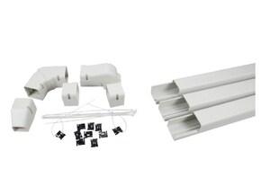 Little Giant Pump Speediduct™ 3 in. Line Set Duct Starter Kit in Ivory L599600050