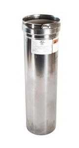 Z-Flex 4 in. X 1 ft. Zvent Gas Vent Pipe Z2SVEPWCF04