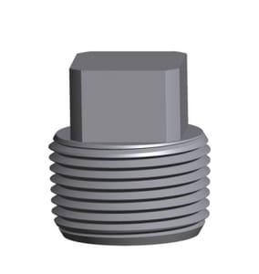 3/4 in. Threaded 6000# Galvanized Forged Steel Square Head Plug GFSTSHPF