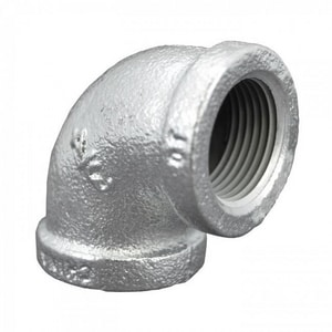 1 in. Threaded 150# Galvanized Malleable Iron 90 Degree Elbow WG9G