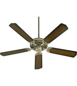 Quorum International Capri I 52 in. 70W 5-Blade Ceiling Fan with Light Kit in Antique Flemish Q77520