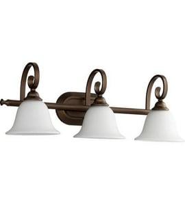 Quorum International Celesta 8-1/2 in. 3-Light Medium E-26 Base Bath Light in Oiled Bronze Q50533186
