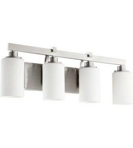 Quorum International 100W 4-Light Vanity Fixture in Satin Nickel Q52074