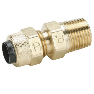 Parker Hannifin 3/8 in. OD x MIP Brass Compression Connector P68P66