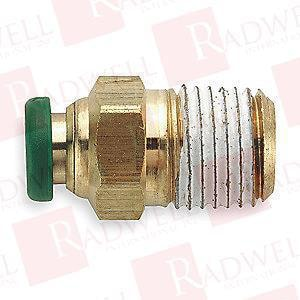 Parker Hannifin 1/4 in. OD x MIP Brass Male Connector PW68PL44