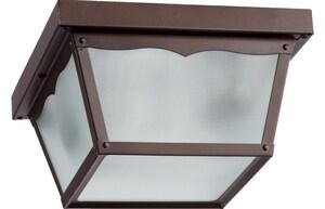 Quorum International Mayfair 2-Light Outdoor Ceiling Light in Oiled Bronze Q3451386