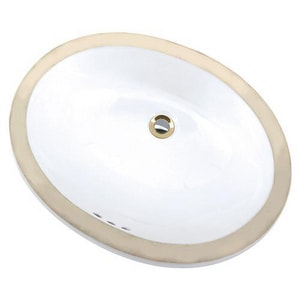 Mansfield Plumbing Products Maple Undermount Bathroom Sink in White M217